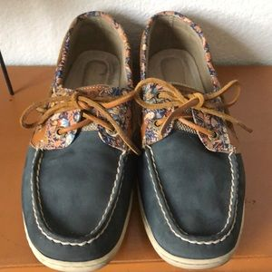 Sperry Top Sider Bluefish Liberty Floral 8.5